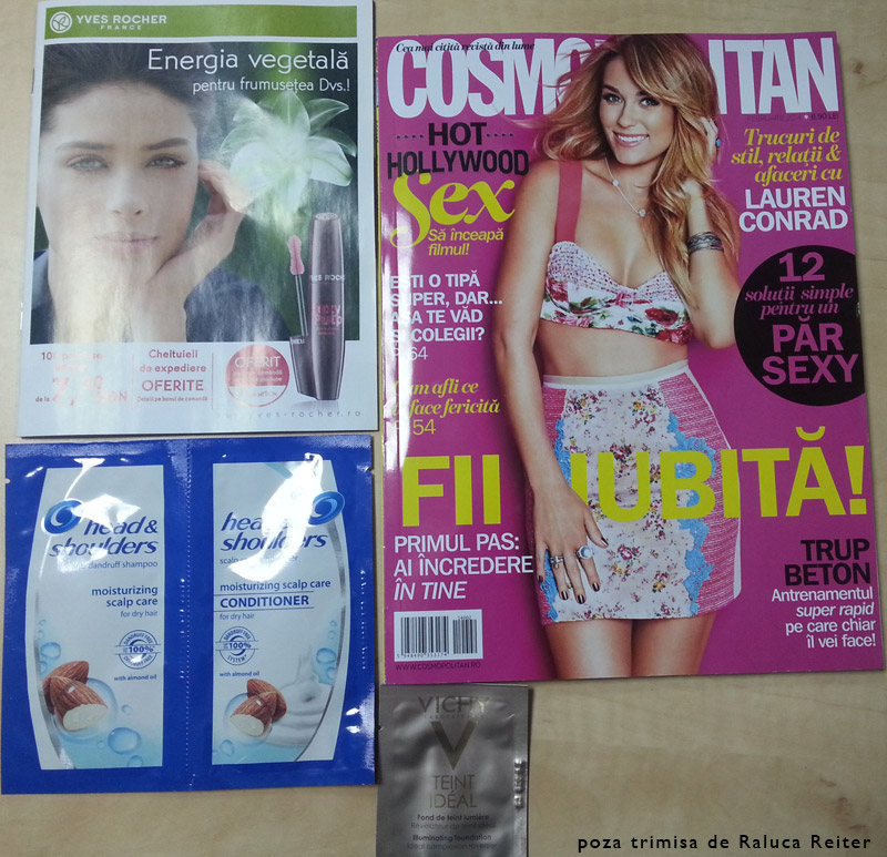 Inserturile revistei Cosmopolitan Romania, editie Februarie 2014
