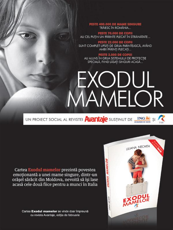 Promo cartea EXODUL MAMELOR, impreuna cu revista Avantaje, editia Februarie 2014