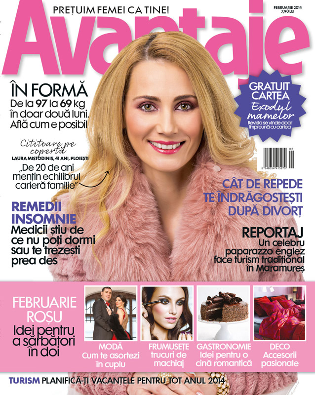 Revista Avantaje ~~ Coperta: Laura  Mistodinis ~~ Februarie 2014