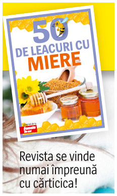 Carticica 50 DE LEACURI CU MIERE ~~ 13 Februarie 2014, impreuna cu revista Femeia de azi