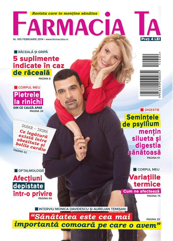 Farmacia Ta ~~ Coperta: Aurelian Temisan si Monica Davidescu ~~ Februarie 2014