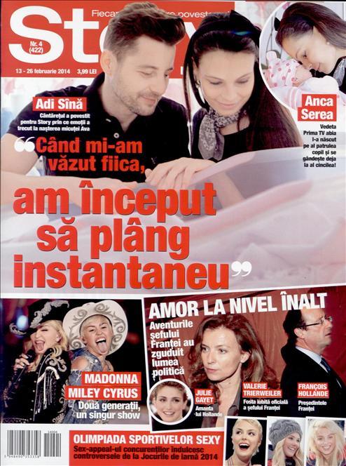 Story Romania ~~ Coperta: Adi Sina si Anca Serea ~~ 13 Februarie 2014