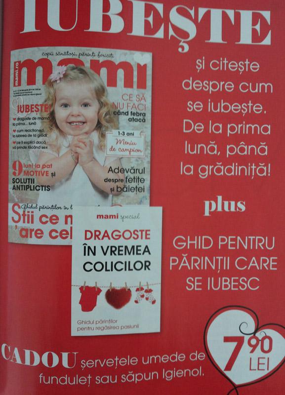 Promo pentru revista MAMI, editia Februarie 2014