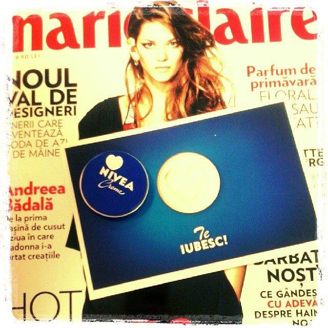 Marie Claire Romania si mini crema Nivea ~~ Martie 2014 ~~ Pret: 10 lei