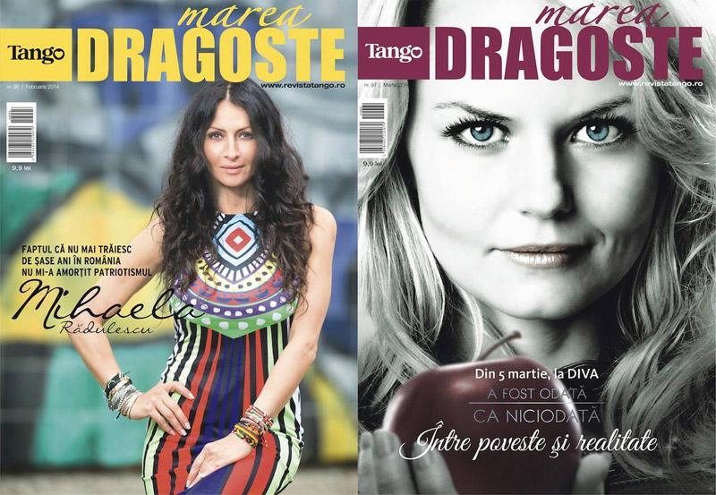 Tango Marea Dragoste ~~ Coperta: Mihaela Radulescu Schwartzenberg si Jennifer Morrison ~~ Martie 2014