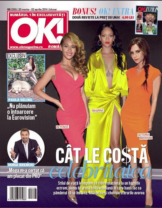 OK! Magazine Romania ~~ Cat costa celebritatea ~~ 20 Martie 2014
