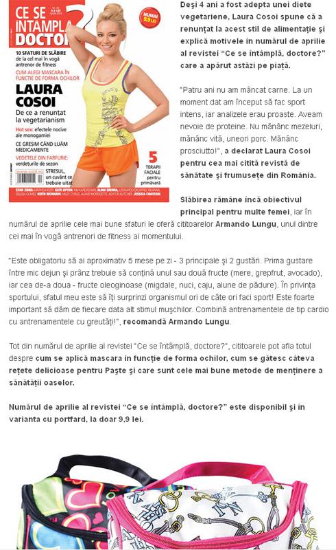 Promo pentru editia de Aprilie 2014 a revistei Ce se intampla, Doctore?