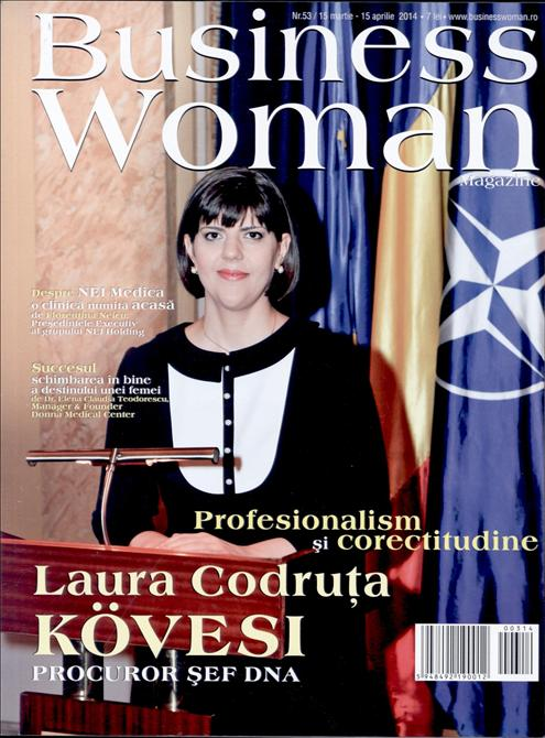 Business Woman Magazine ~~ Coperta: Laura Codruta Kovesi ~~ Aprilie 2014