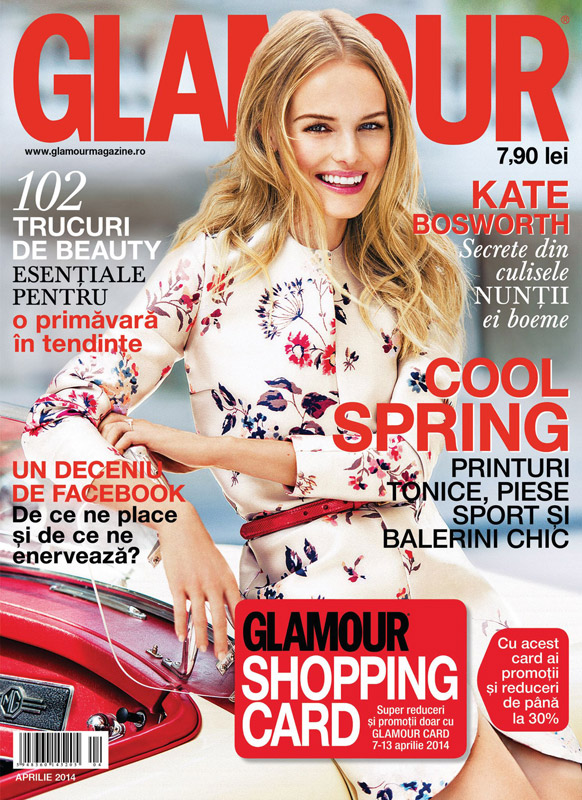 Glamour Romania ~~ Coperta: Kate Bosworth ~~ Aprilie 2014