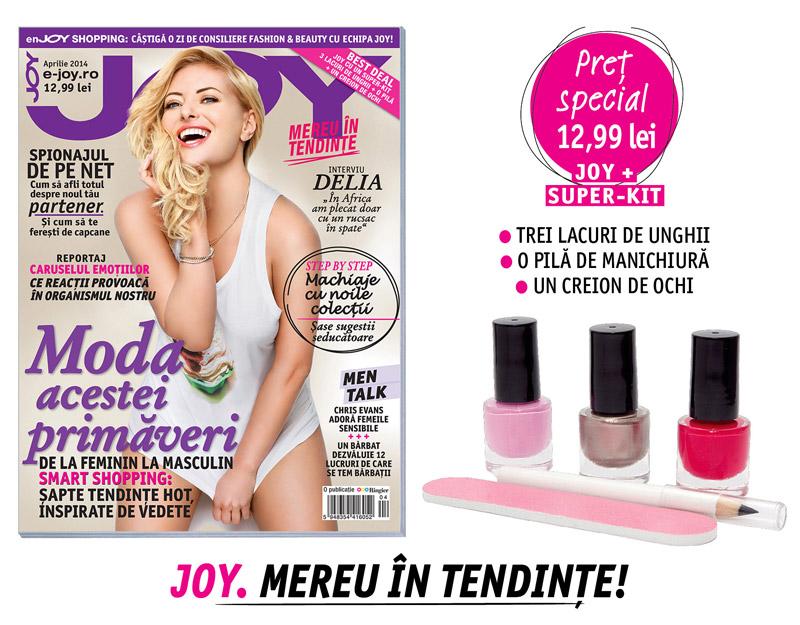 Promo pentru editia de Aprilie a revistei JOY Romania