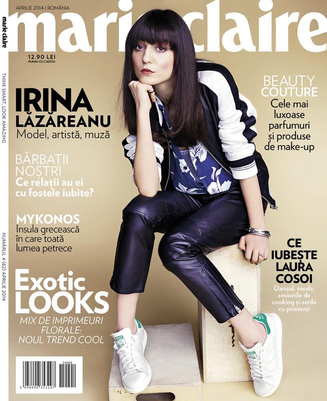 Marie Claire Romania ~~ Coperta: Irina Lazareanu ~~ Aprilie 2014