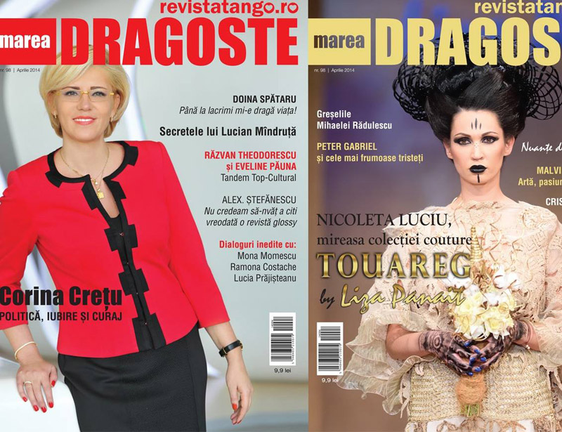 Tango Marea Dragoste ~~ Coperta: Nicoleta Luciu si Corina Cretu ~~ Aprilie 2014