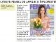 Promo pentru editia de Aprilie 2014 a revistei FEMEIA.