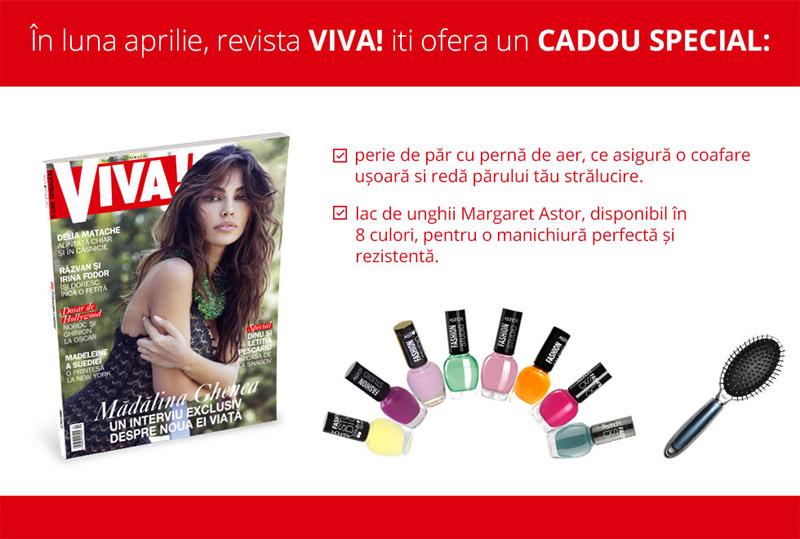 Promo pentru cadourile revistei VIVA!, editia Aprilie 2014 ~~ Pret pachet: 9 lei