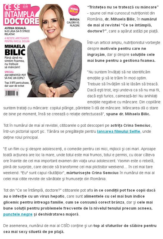 Promo pentru revista CSID, editia Mai 2014