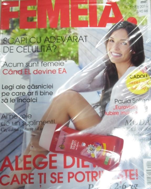 FEMEIA. si cadoul mini gel de dus Elmiplant ~~ Mai 2014 ~~ Pret pachet: 9 lei