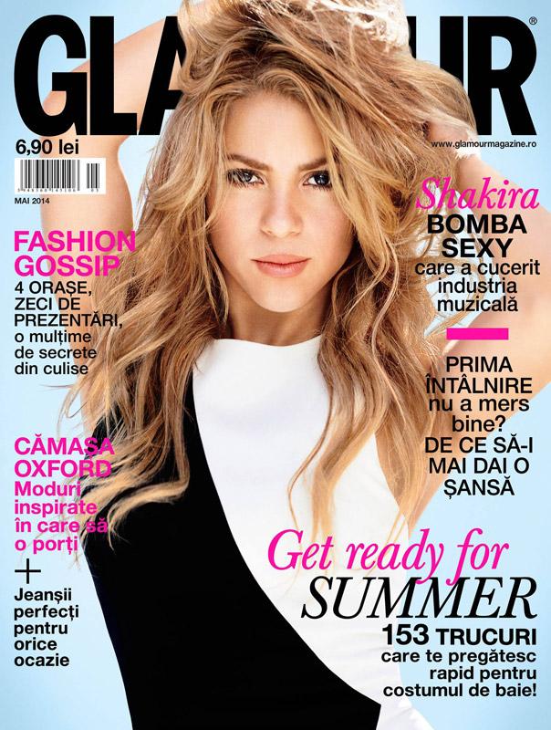 Glamour Romania ~~ Coperta: Shakira ~~ Mai 2014