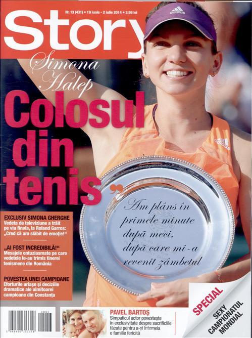 Story Romania ~~ Coperta: Simona Halep, colosul din tenis ~~ 19 Iunie 2014 ~~ Pret: 4 lei