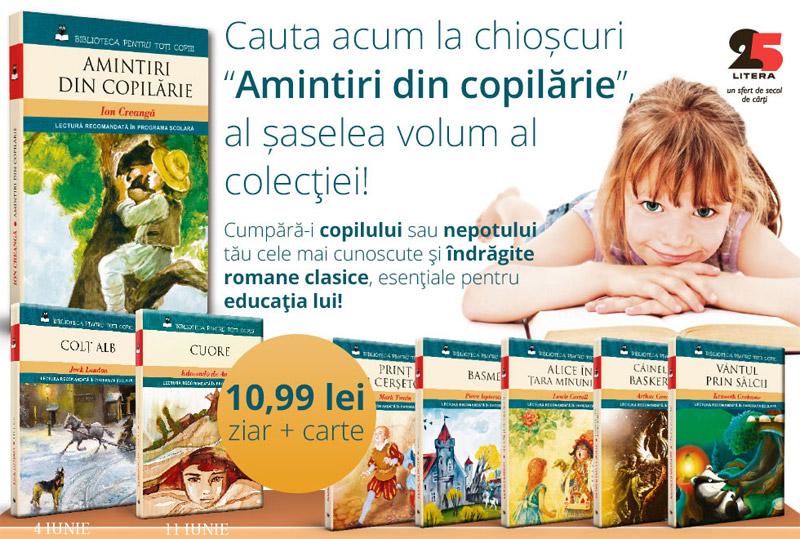 Colectia BIBLIOTECA PENTRU TOTI COPIII de la Libertatea ~~ 8 volume ~~ 11 lei/bucata