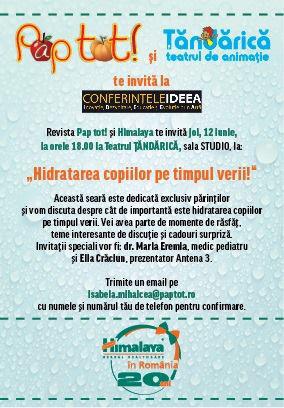 Eveniment organizat de revista PAP TOT! si Himalaya Herbals ~~ Bucuresti, 12 Iunie 2014