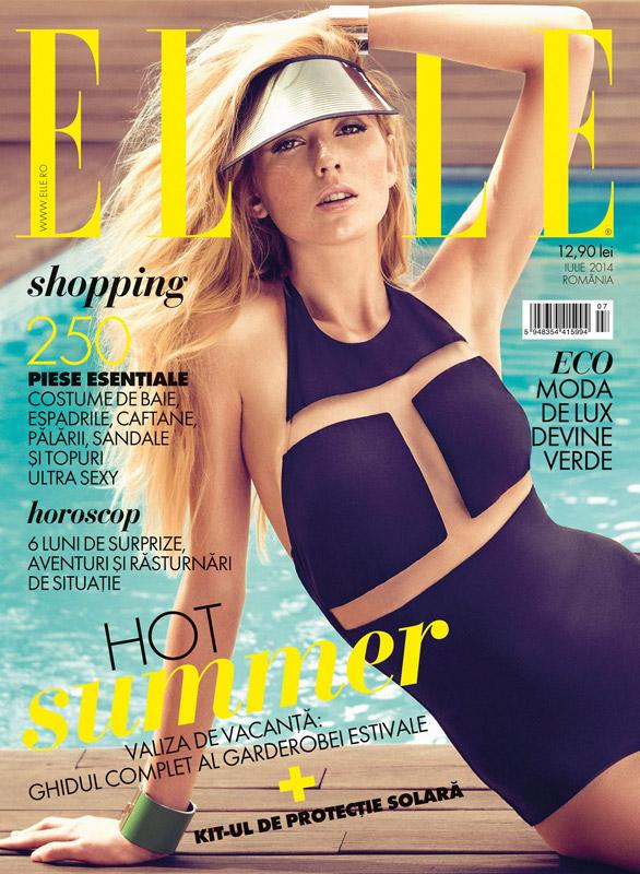 ELLE Romania ~~ Hot Summer ~~ Iulie 2014