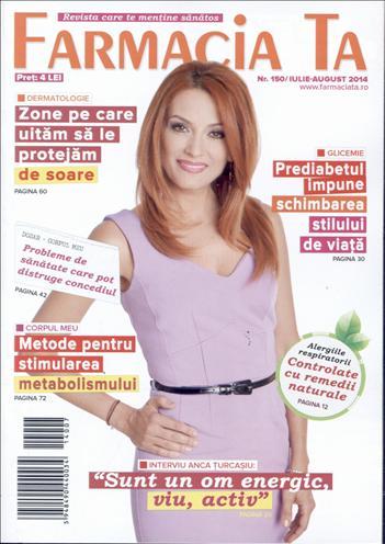 Farmacia Ta ~~ Coperta: Anca Turcasiu ~~ Iulie - August 2014