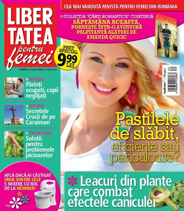 Libertatea pentru femei ~~ Leacuri din plante care combat efectele caniculei ~~ 25 Iulie 2014 ~~ Pret: 1,50 lei