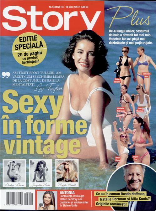 Story Romania ~~ Cover girl: Liz Taylor ~~ 3 Iulie 2014