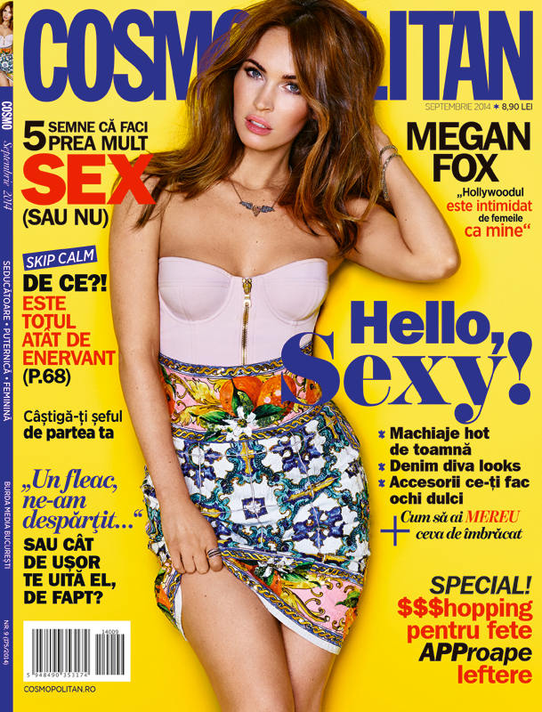 Cosmopolitan Romania ~~ Coperta: Megan Fox ~~ Septembrie 2014
