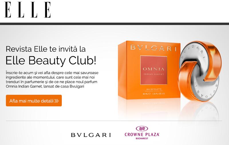 ELLE Beauty Club ~~ Bulgary Omnia Indian Garnet ~~ Bucuresti, Septembrie 2014