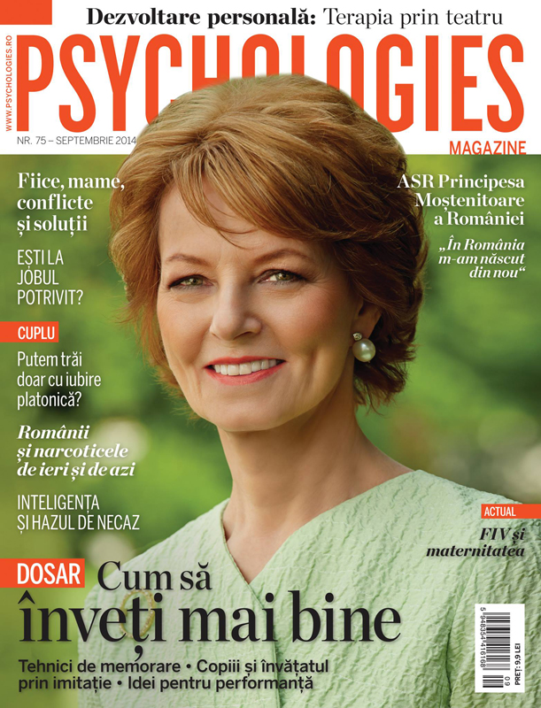 Psychologies Romania ~~ Coperta: Principesa Mostenitoare Margareta a Romaniei ~~ Septembrie 2014
