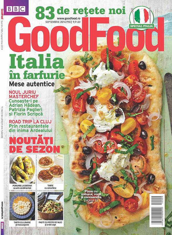 Good Food Romania ~~ Italia in farfurie ~~ Septembrie 2014 ~~ Pret: 10 lei