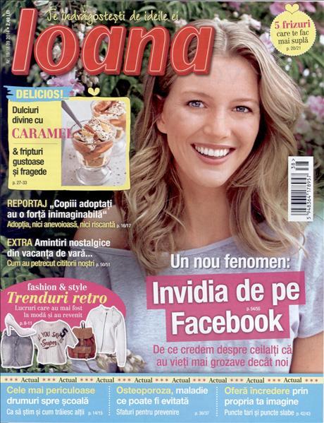 Revista Ioana ~~ Invidia de pe Facebook ~~ Nr. 19 din 18 Septembrie 2014 ~~ Pret: 2,50 lei