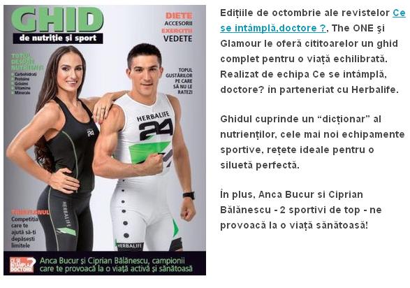 Ghid de nutritie si sport ~~ Supliment CSID ~~ Octombrie 2014