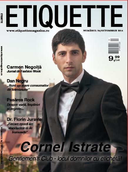 Etiquette Magazine ~~ Coperta: Cornel Istrate ~~ Octombrie 2014