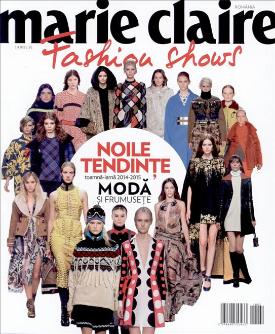 Marie Claire Fashion Shows ~~ Noile tendinte in moda si frumusete ~~ Toamna-Iarna 2014/2015 ~~ Pret: 20 lei