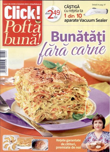 Click Pofta buna! ~~ Bunatati fara carne ~~ Nr. 10 din Octombrie 2014 ~~ Pret: 2,50 lei