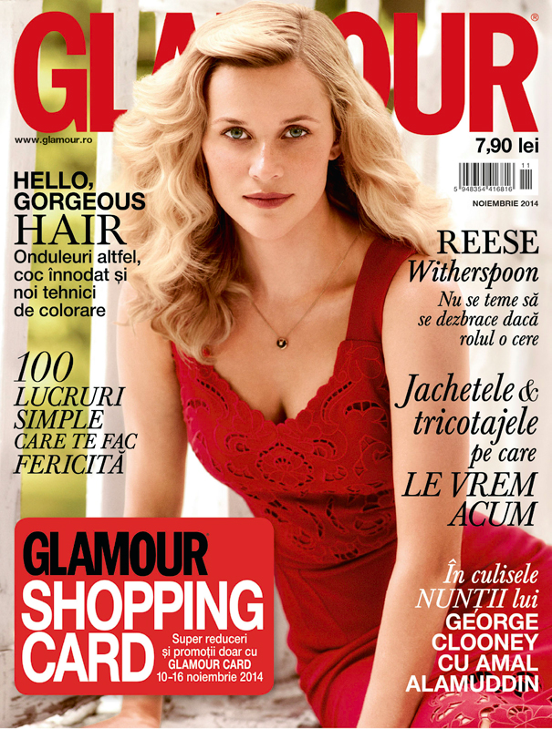 Glamour Romania ~~ Coperta: Reese Witherspoon ~~ Noiembrie 2014