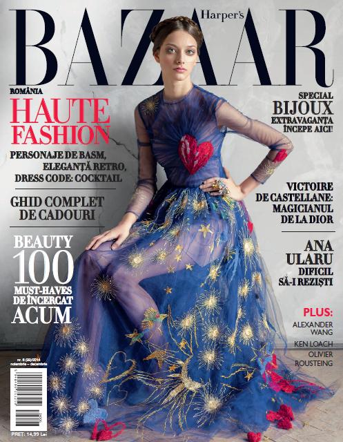 Harper\'s Bazaar Romania ~~ Numar aniversar 7 ani ~~ Octombrie-Noiembrie 2014