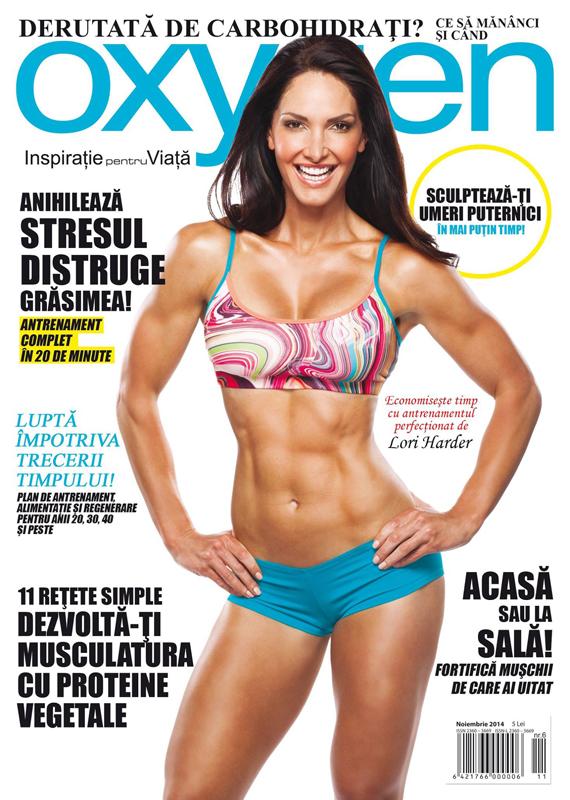 Oxygen Magazine Romania ~~ Coperta: Lori Harder ~~ Noiembrie-Decembrie 2014