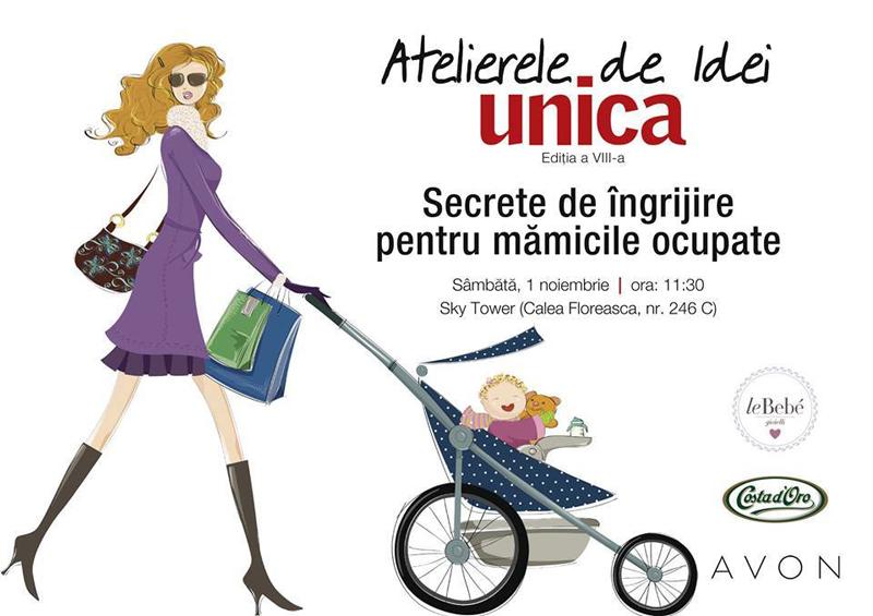 Eveniment Unica ~~ Atelierele de idei, editia a 8-a ~~ Bucuresti, 1 Noiembrie 2014