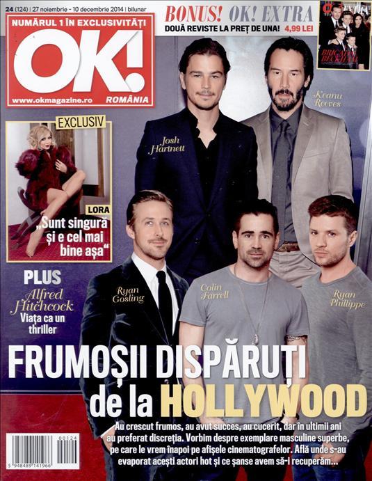 OK! Magazine Romania ~~ Frumosii disparuti de la Hollywood ~~ 27 Noiembrie 2014 ~~ Pret: 5 lei