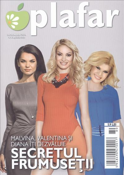 Plafar ~~ Coperta: Malvina, Valentina si Diana ~~ Noiembrie 2014 ~~ Pret: 6 lei