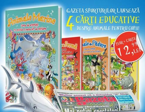 Colectie de 4 carti educative despre animale ~~ 10 Noiembrie-1 Decembrie 2014 ~~ Pret: 13 lei/bucata