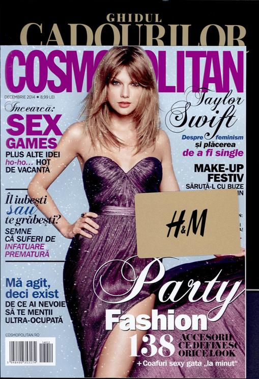 Cosmopolitan Romania ~~ Coperta: Taylor Swift ~~ Decembrie 2014