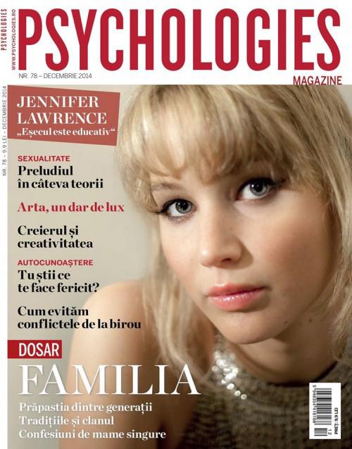 Psychologies Romania ~~ Coperta: Jennifer Lawrence ~~ Decembrie 2014