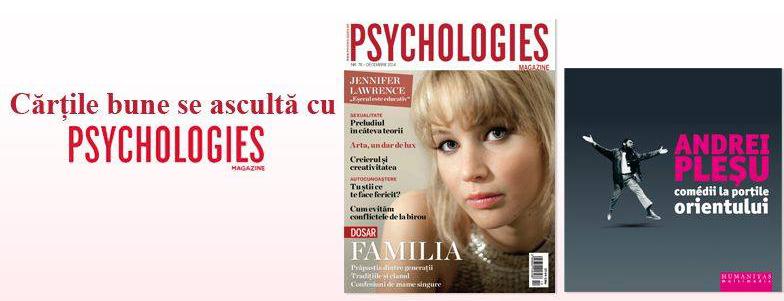 Promo pentru cadoul revistei Psychologies, editia Decembrie 2014: Audiobook Andrei Plesu ~~ Pret pachet: 20 lei
