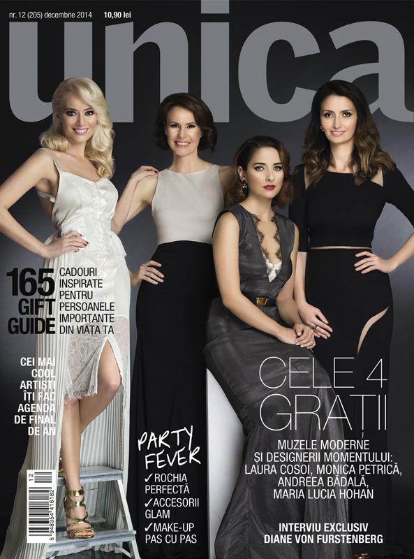 UNICA ~~ Coperta: Laura Cosoi, Monica Petrica, Andreea Badala si Maria Lucia Hohan ~~ Decembrie 2014