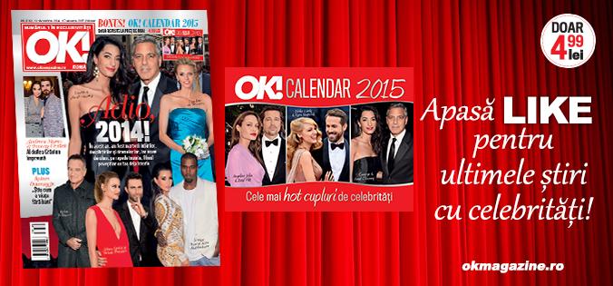 Calendar OK! 2015 ~~ impreuna cu revista nr. 26 din 23 Decembrie 2014