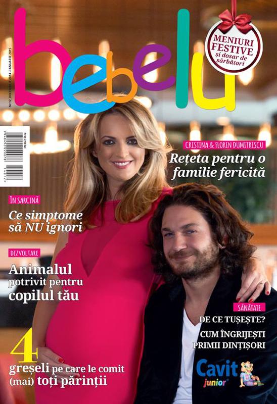 BEBELU ~~ Coperta: Cristina si Florin Dumitrescu ~~ Decembrie 2014 - Ianuarie 2015 ~~ Pret: 8 lei
